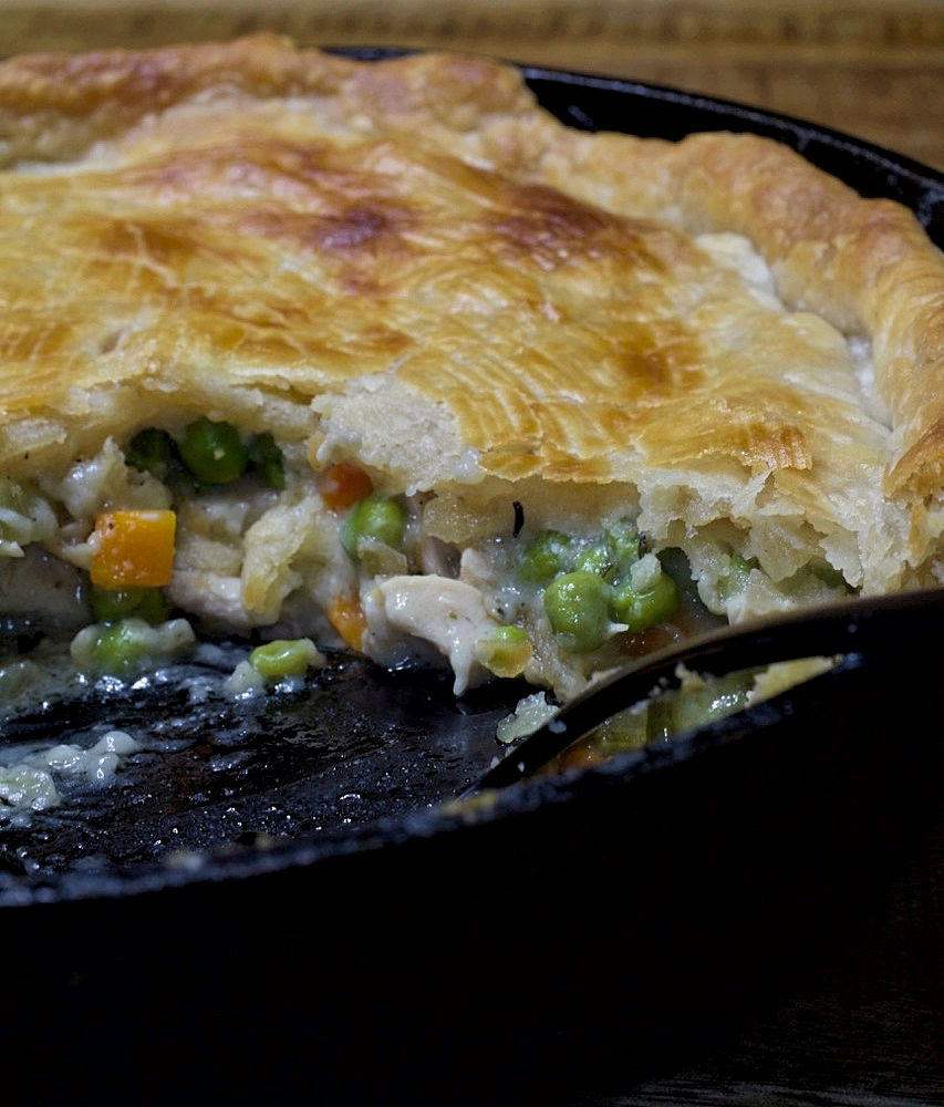 Iron Skillet Chicken Pot Pie