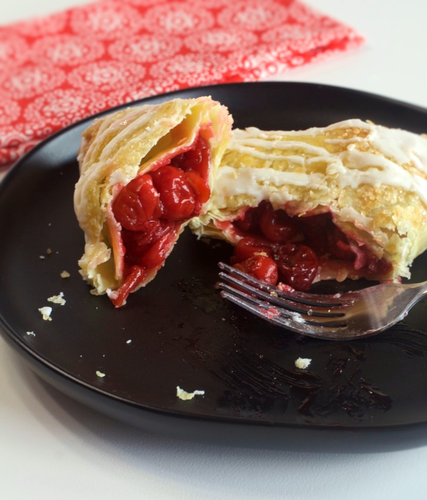 Easy Puff Pastry Cherry Turnovers