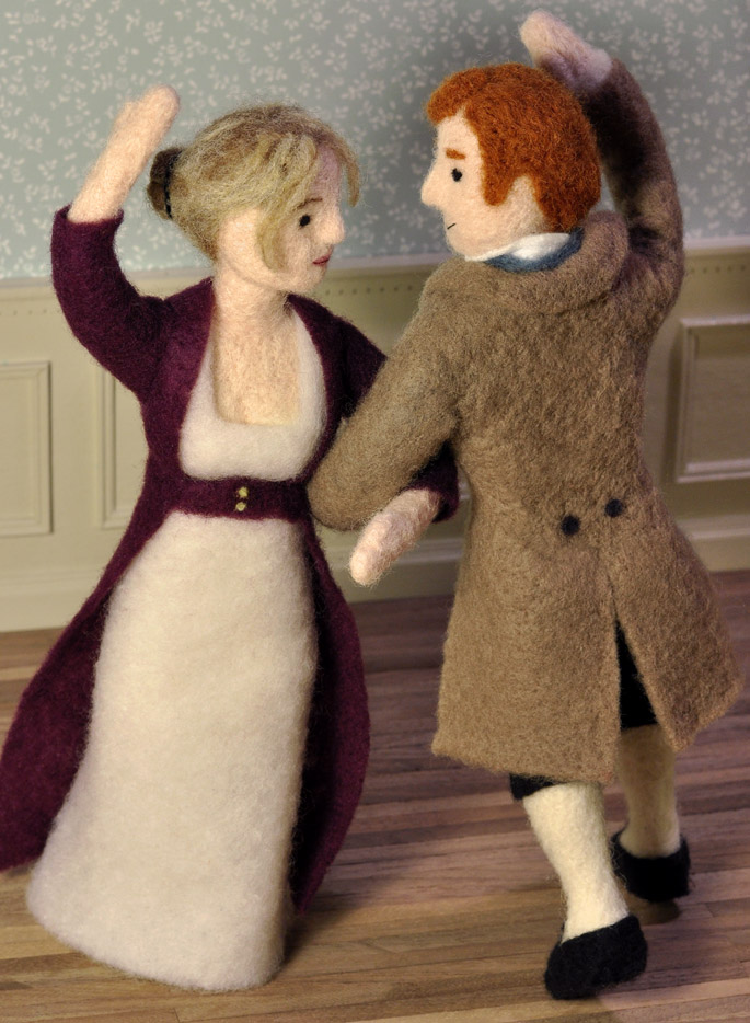 Cozy Classics Pride and Prejudice - Dance - needle felting