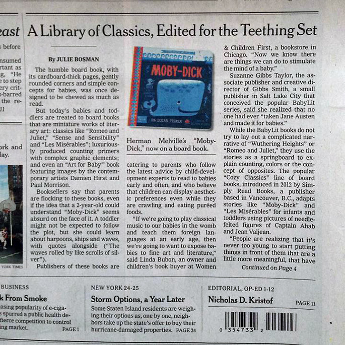 NY Times Front Page