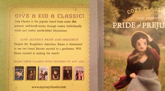 Cozy Classics - Pride and Prejudice Back cover (printing error)