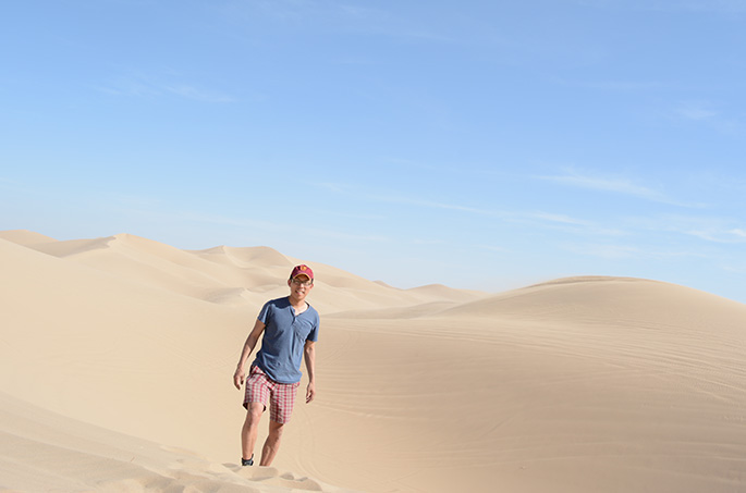 Holman at the Imperial Sand Dunes