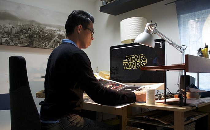 Star Wars Epic Yarns - Holman checking proofs