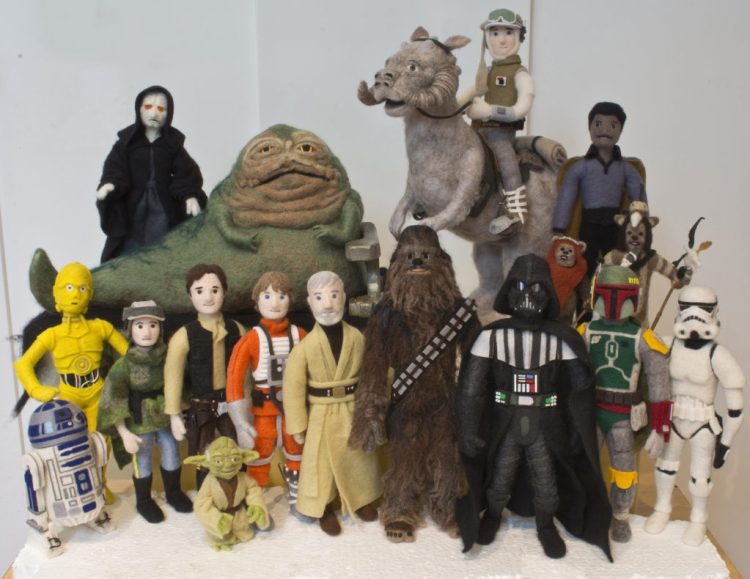 Star Wars Epic Yarns - felted figures - © TM Lucasfilm Ltd