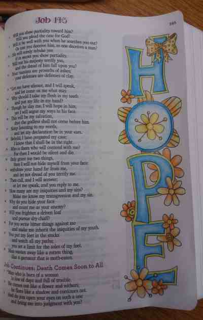 Bible Journaling Hope