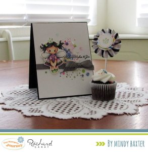 Create an Ink Splat Rainbow Effect for your cards with one 1 stamp!