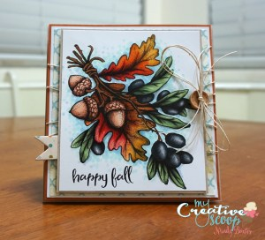 Happy Fall Card with Power Poppy Stamps!