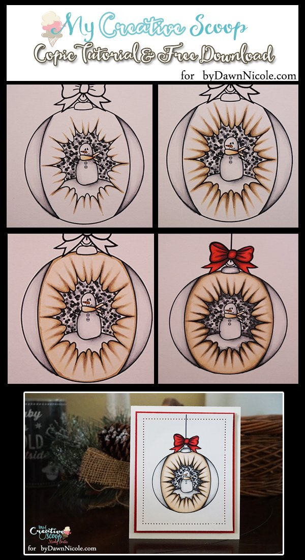 Copic Coloring Ornament and Tutorial