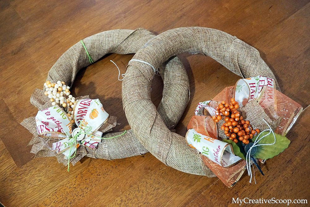 DIY - Simple and Quick Fall Wreaths Tutorial