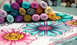Copic Flower Tutorial & Free Flower Printable