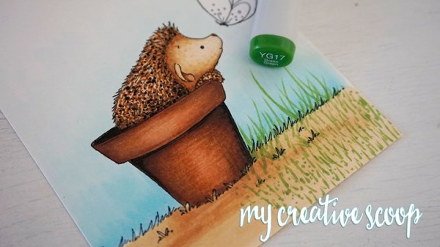 How to Color Grass using Copic Markers -2