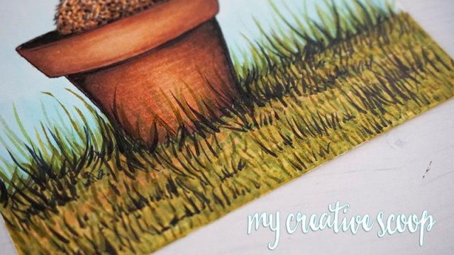 How to Color Grass using Copic Markers -8