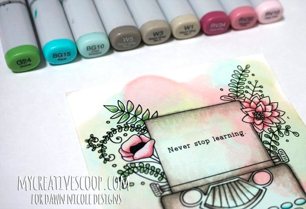 how-to-watercolor-using-copic-markers - 8 Copic Marker Tutorials with Free Printable Coloring Pages