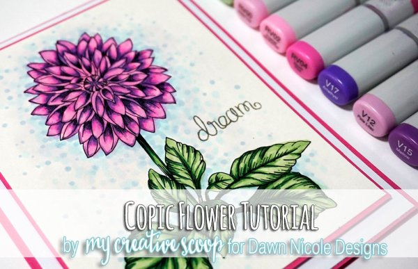 Copic Flower Tutorial - 8 Copic Marker Tutorials with Free Printable Coloring Pages