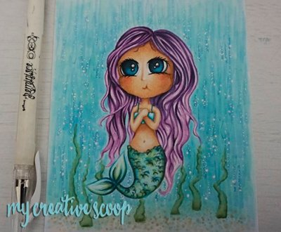 How to Create an Ocean Background using Copic Markers