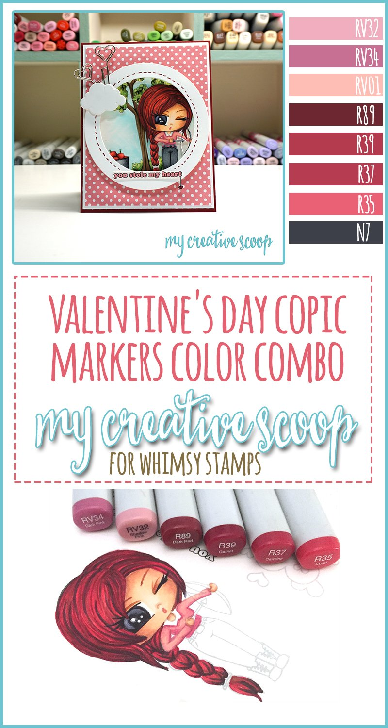 Valentines Day Copic Markers Color Combo My Creative Scoop