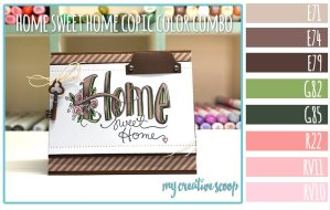 Home Sweet Home Copic Color Combo