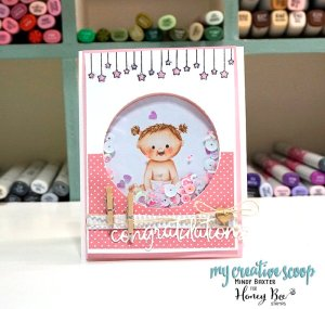 Honey Bee Stamps and Misti Blog Hop + No Line Copic Marker Tutorial