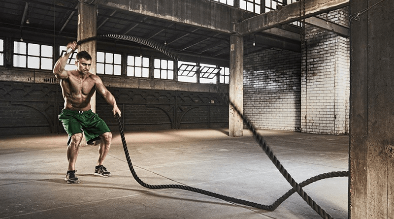esercizi battle rope