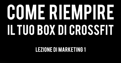 marketing per box di crossfit
