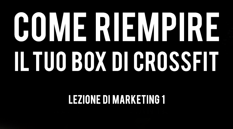 marketing per box di crossfit