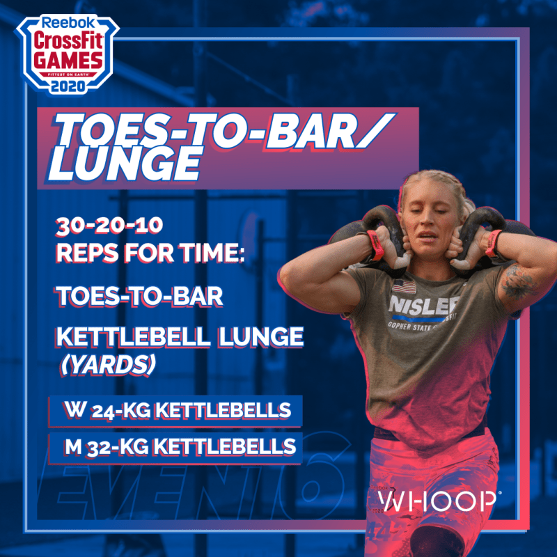 Toes to bar lounge evento 6 crossfit games