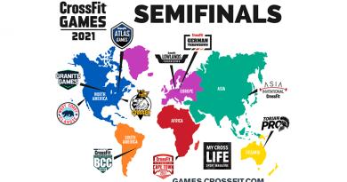 Mappa 2 eventi CrossFit Games semifinali 2021