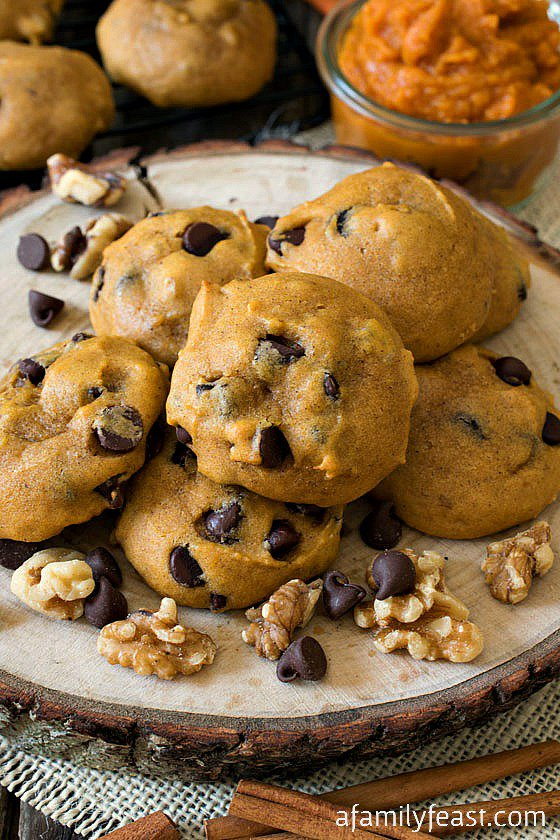Pumpkin Chocolate Chip Cookies by