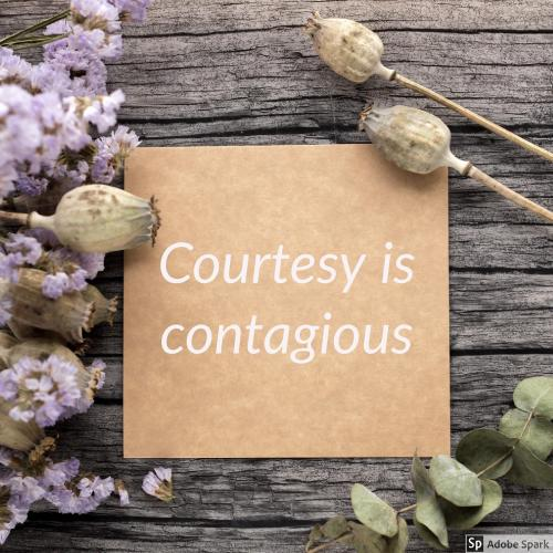 courtesy is contagious