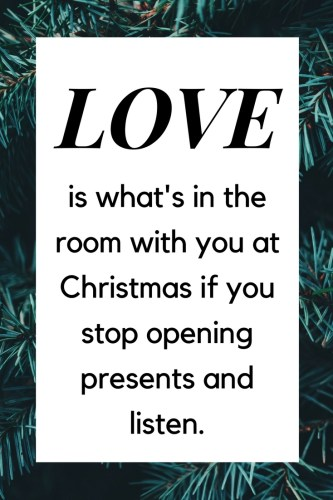 Love Christmas quote
