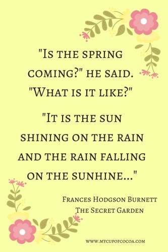 11 Inspirational Quotes For Spring My Cup Of Cocoa