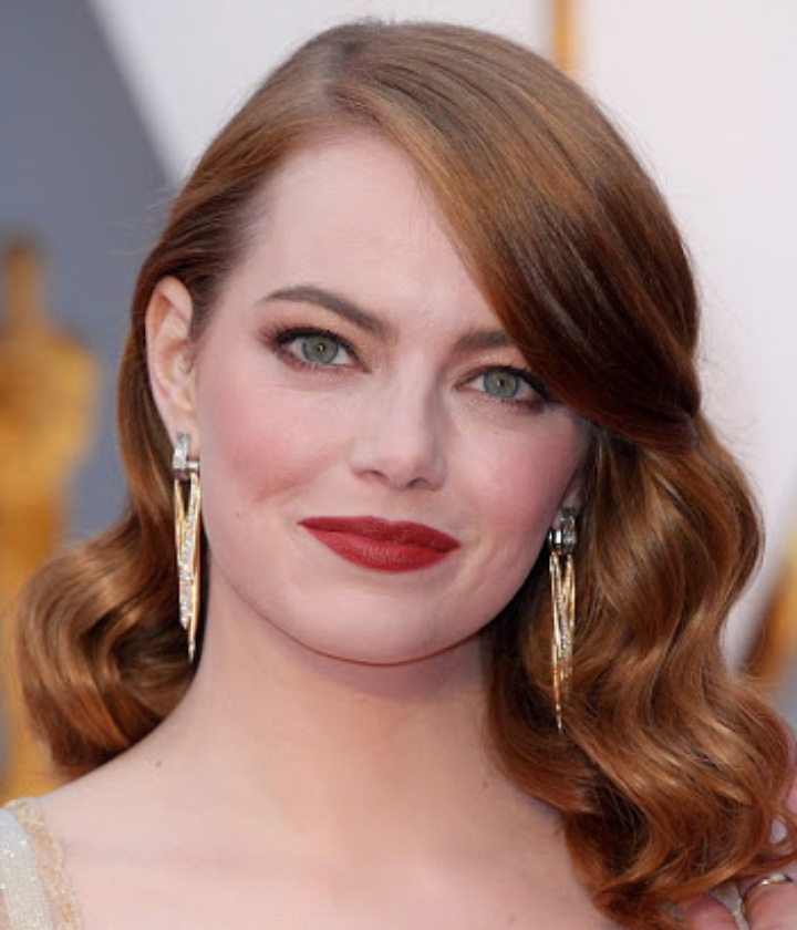 Emma Stone on the Red Carpet of Oscars