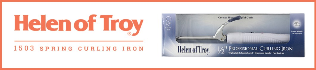 Helen of Troy 1503 Spring Curling Iron, White, and 1/2 Inch