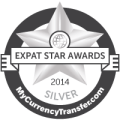 Silver Winner - MyCurrencyTransfer.com's Expat Stars Awards 2014