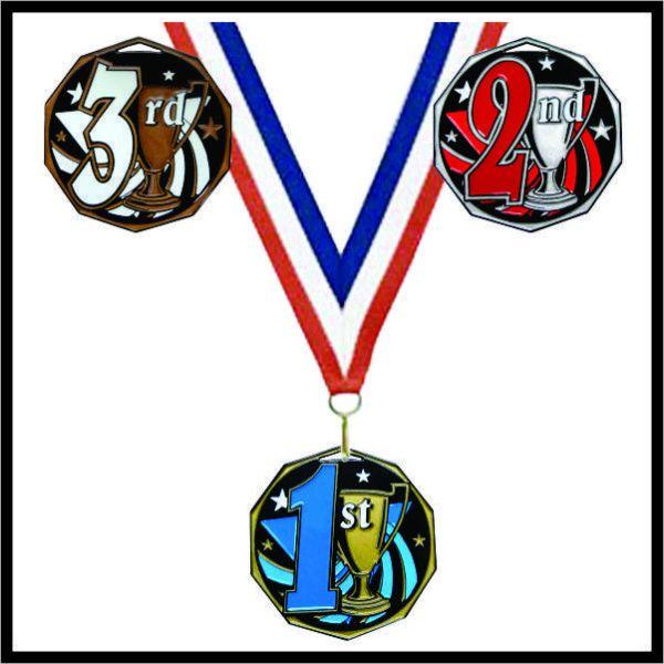 """1st Place Medal (DCM) - 2"""""""