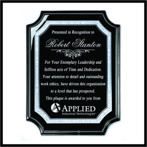 Ebony Award Plaque, profiled corners - 0912