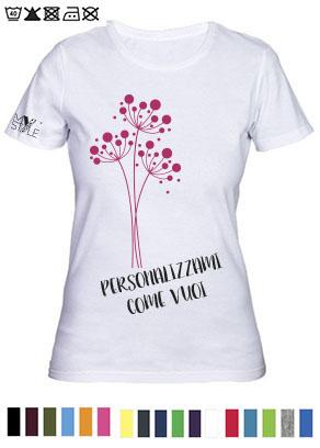 T-shirt donna cotone