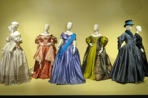 The Young Victoria: costumes by Sandy Powell, 2010 Academy Award Nominee for Achievement in Costume Design.  Ms. Powell is also nominated for the British Academy of Film and Television Association (BAFTA) for Costume Design.  (L to R):  Costumes:  Emily Blunt as Queen Victoria, Emily Blunt as Queen Victoria, Miranda Richardson as Duchess of Kent, Emily Blunt as Queen Victoria, Miranda Richardson as Duchess of Kent, Emily Blunt as Queen Victoria and Emily Blunt as Queen Victoria. Photo Credit: John Sciulli © Berliner Studios