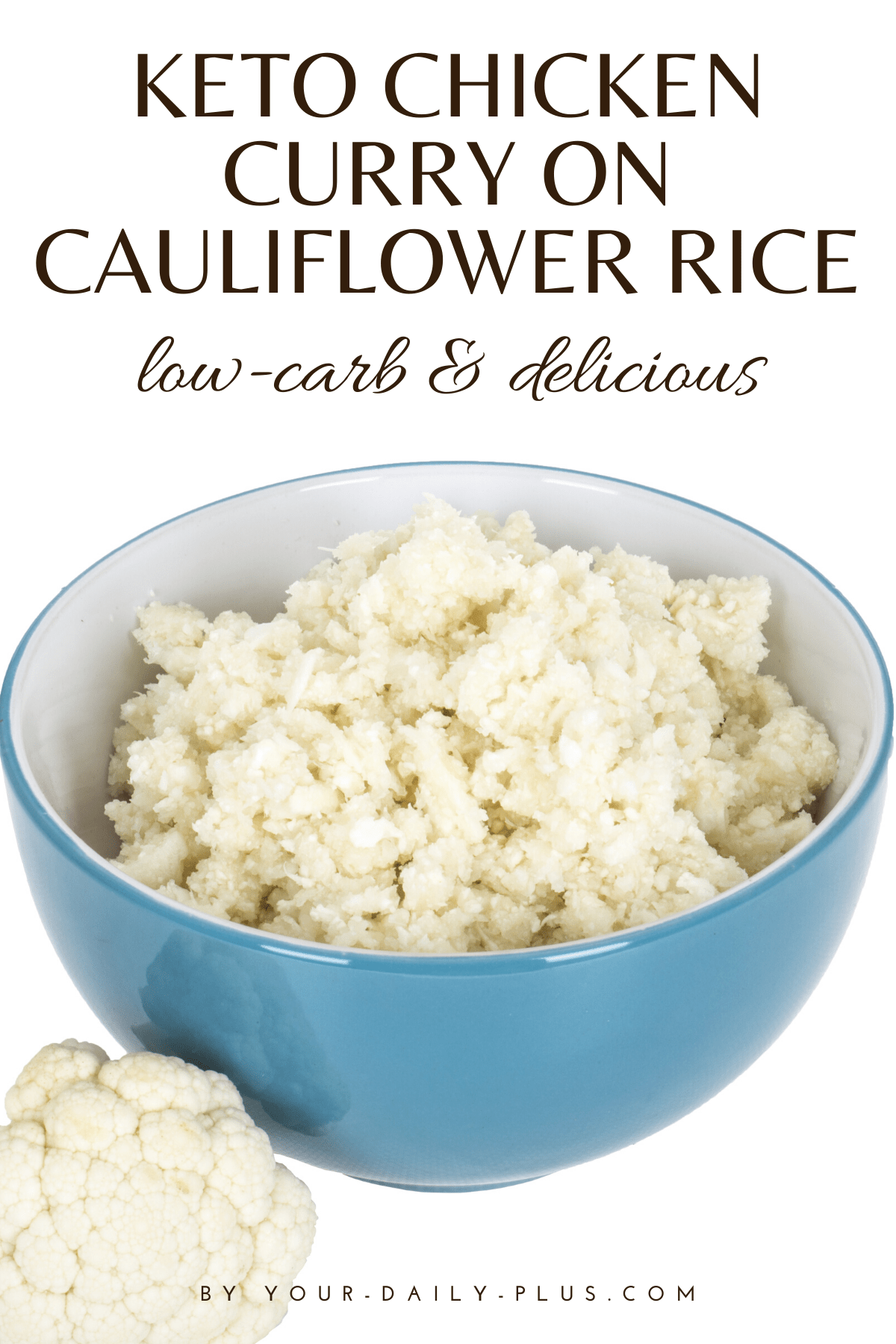 Delicious chicken curry made low-carb with cauliflower rice. The perfect keto dinner!