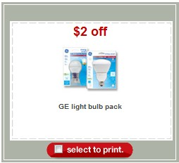 Ge Print This $2 Off GE Light Bulbs Pack Target Store Coupon ...