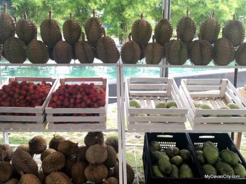 Durian, Rambutan, Guyabano and Other Davao Fruits on Sale at the Kadayawan Durian Festival 2016 at SM Lanang Premier