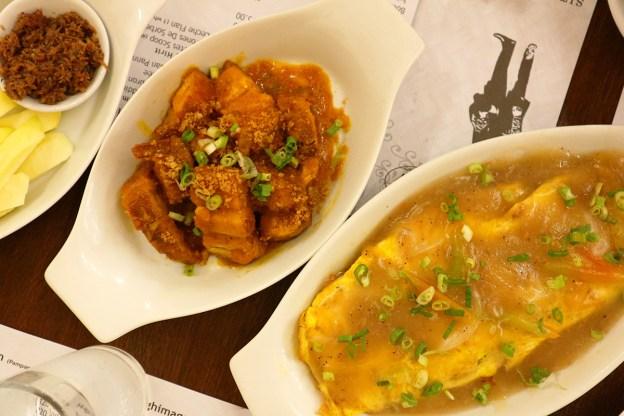 Crispy Pork Binagoongan (Crispy Pork with Shrimp Paste) and Poqui Poqui (Ilocano Vegetable Omelette) by Bagoong Club Davao
