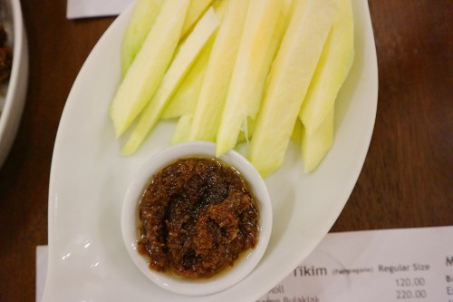 Manggat Bagoong (Green Mangoes with Shrimp Paste) by Bagoong Club Davao
