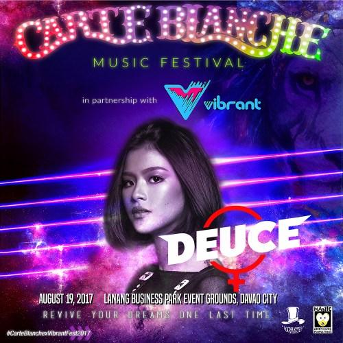 Carte Blanche 2017 Lineup: Deuce