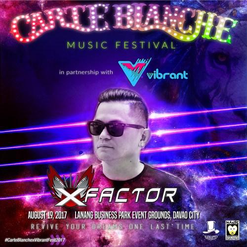 Carte Blanche 2017 Lineup: X Factor