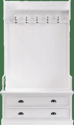 meuble d entree newport blanc en bois mydecolab