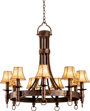 This Rustic Chandelier From Kalco Has The Feel Of Early Hand Forged Lighting