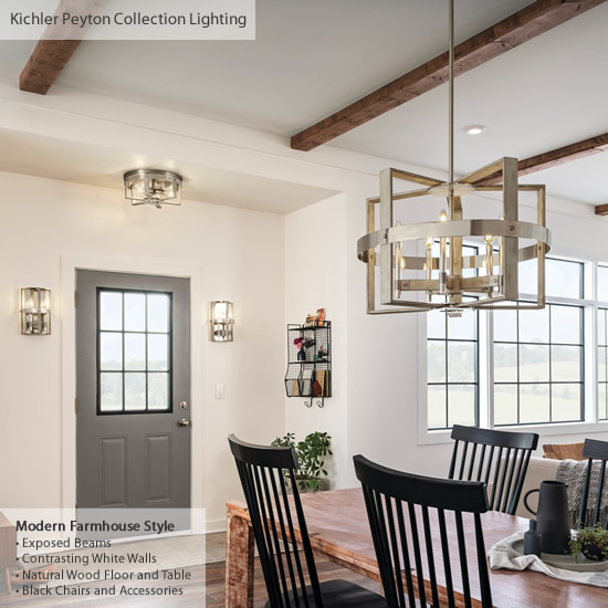 farmhouse style lighting from kichler