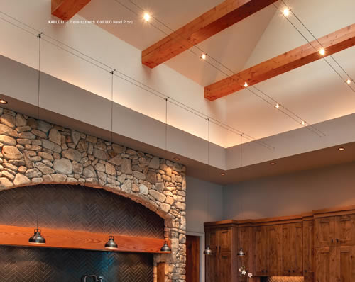tech lighting cable with exposed beam