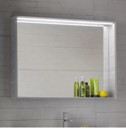 Specchiera Forma con led ed interruttore. L 70 x P 13 x A 75 cm